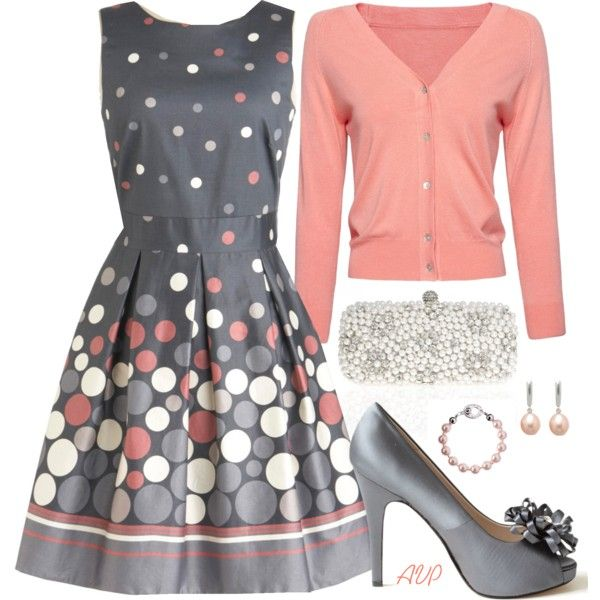 Gray and Peach