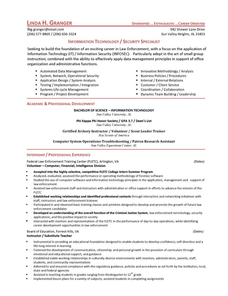 Police Officer Resume Example Police Officer Resume Objective Resume  Httpwwwresumecareer