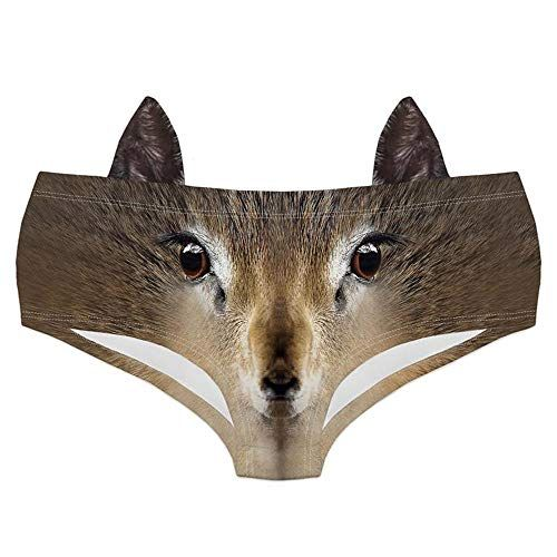 826a34448818 Women Sexy Funny Animal 3D Printed Underwears Breathable Briefs Panties  Briefs with Cute Ears,#Animal, #Printed, #Funny, #Women