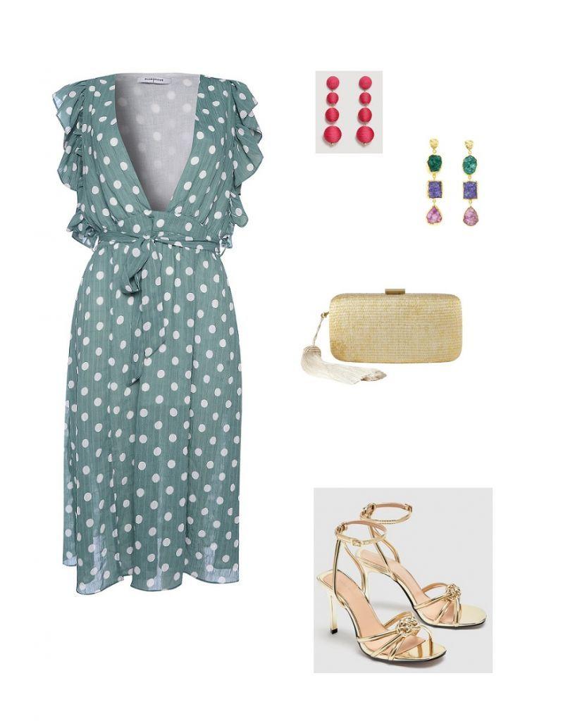 Consultas de Moda   Evening wedding guest outfits, Gold clutch and ...