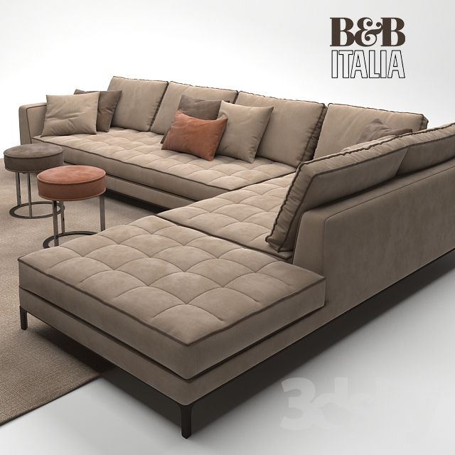 Contemporary Low Profile Leather Sectional Sofa Italian Corner Sofas ...