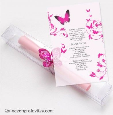 Quinceanera Scroll Invitations Kit