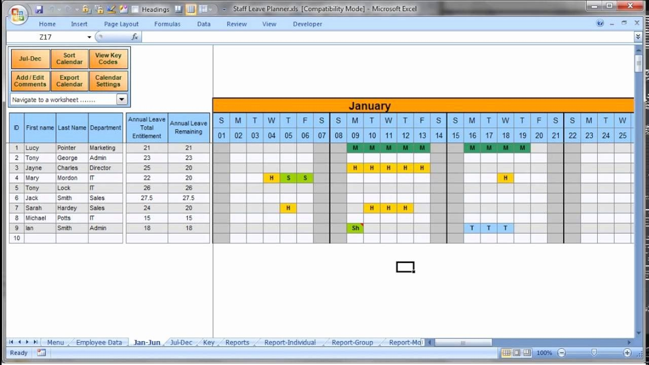 Project Staffing Plan Template Excel Unique Annually Employee Leave Record Format In Excel 2016 Effect Simple Business Plan Template Schedule Template Excel