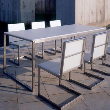 Gandia Blasco Mesa Luna Modern Outdoor Dining Table Mesas Luna