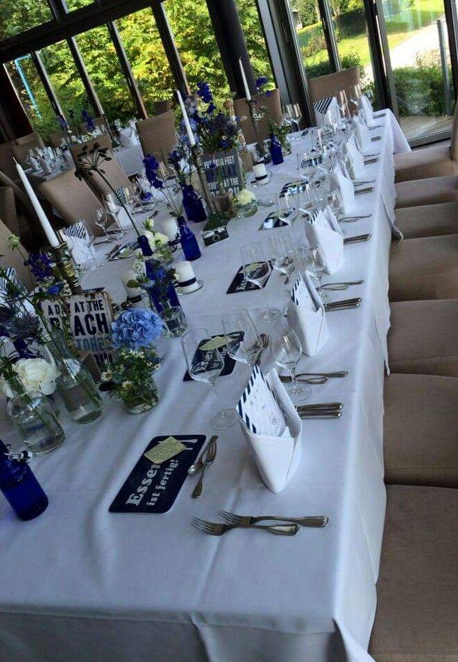 Tischdeko Hochzeit Blau Hochzeit In 2019 Pinterest Tischdeko