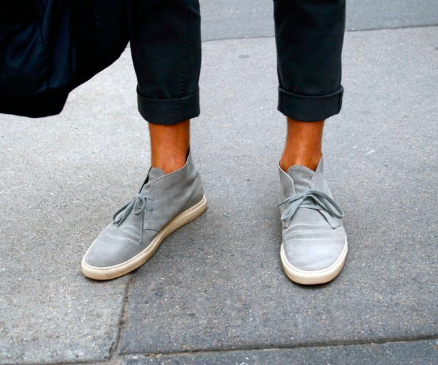Grey Suede Desert Boots by Common