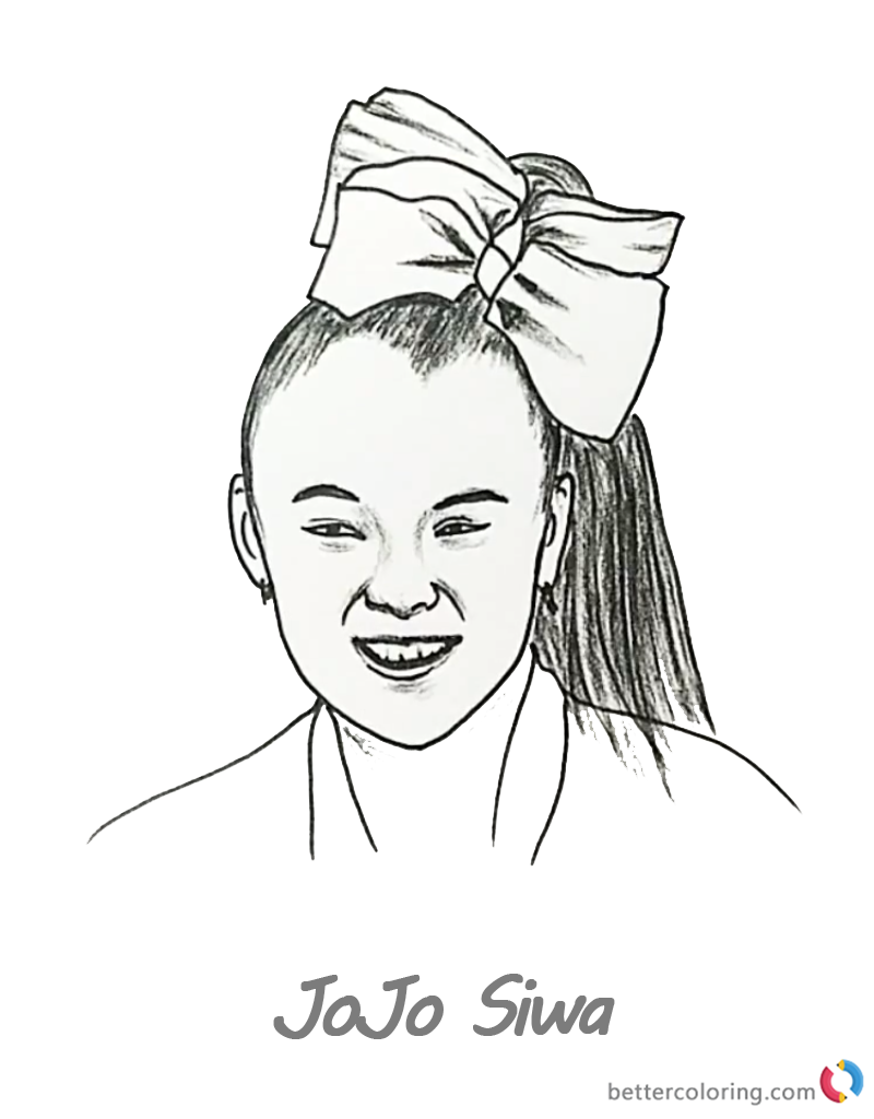 Jojo Siwa Coloring Pages Online