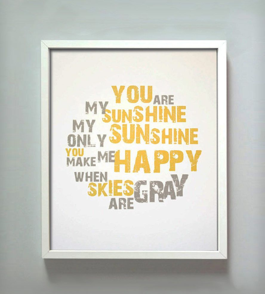 sunshine | ART | Pinterest | Sunshine, Printing and Craft