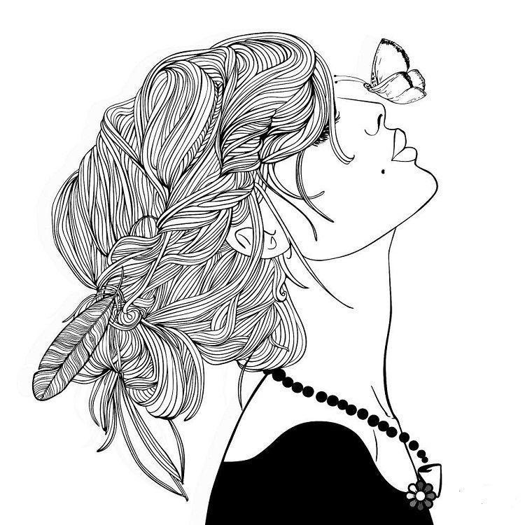 A Hipster Girl Coloring Pages Desenhos Pra Pintar Desenhos Para