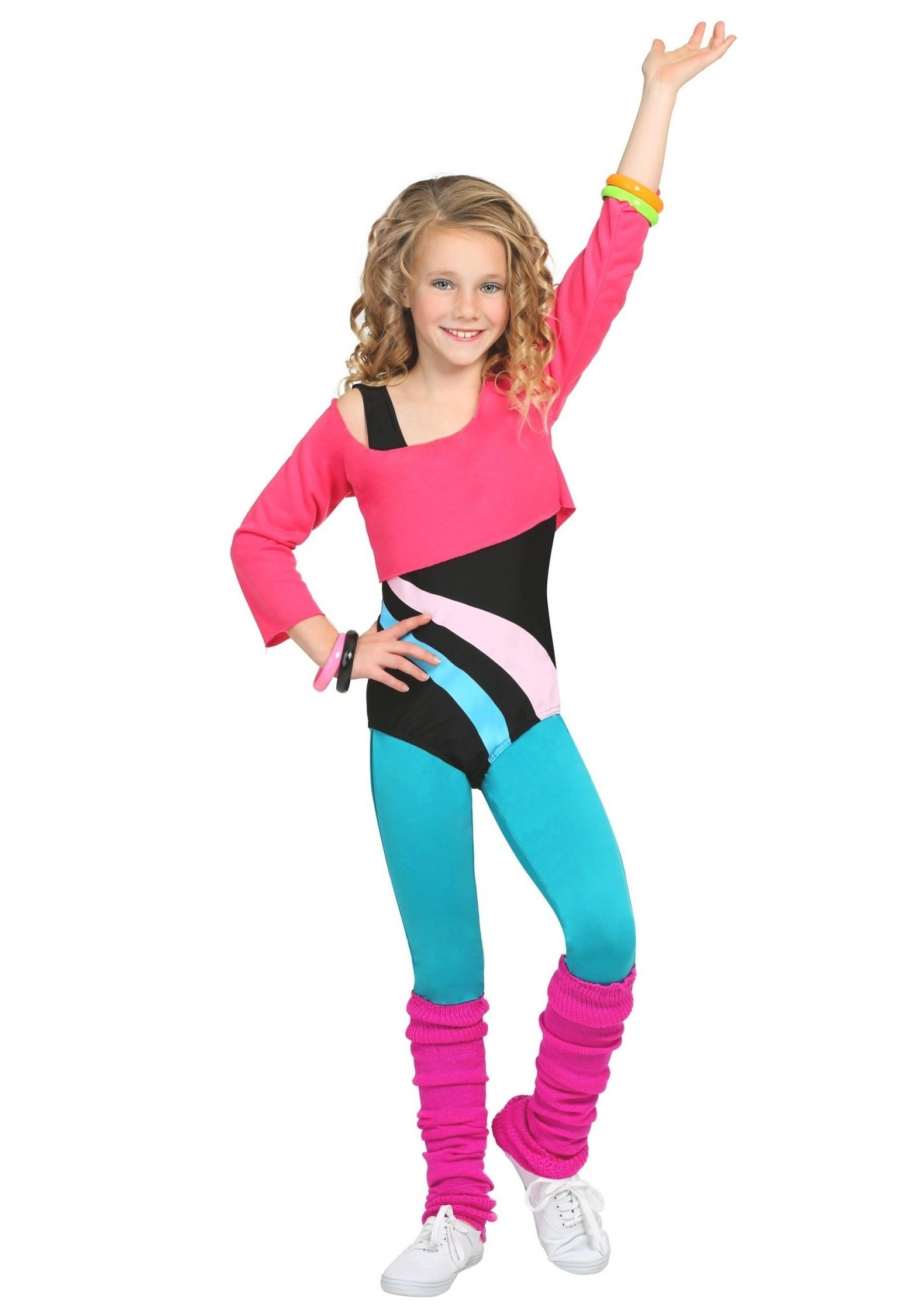Child 80's Workout Girl Costume intended for Top 80S