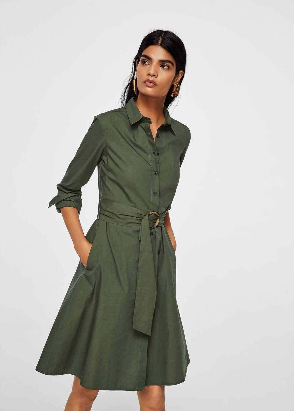 9162330e74 Vestido camisero cinturón - Vestidos de Mujer