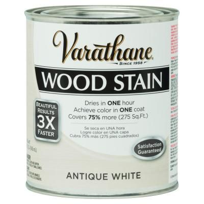 Varathane 1 Qt Antique White 3x Reclaimed Distressed Wood Stain 2 Pack 287755 The Home Depot Staining Wood Interior Wood Stain Varathane Wood Stain