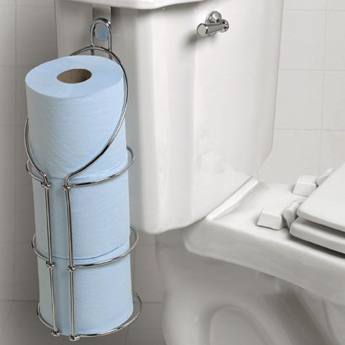 over the tank toilet paper holder | This looks interesting ...