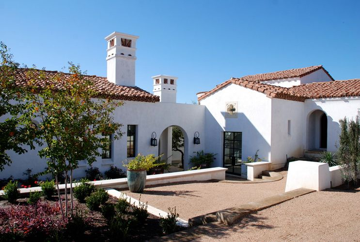 California mission style homes spanish homes styles for Mission stucco