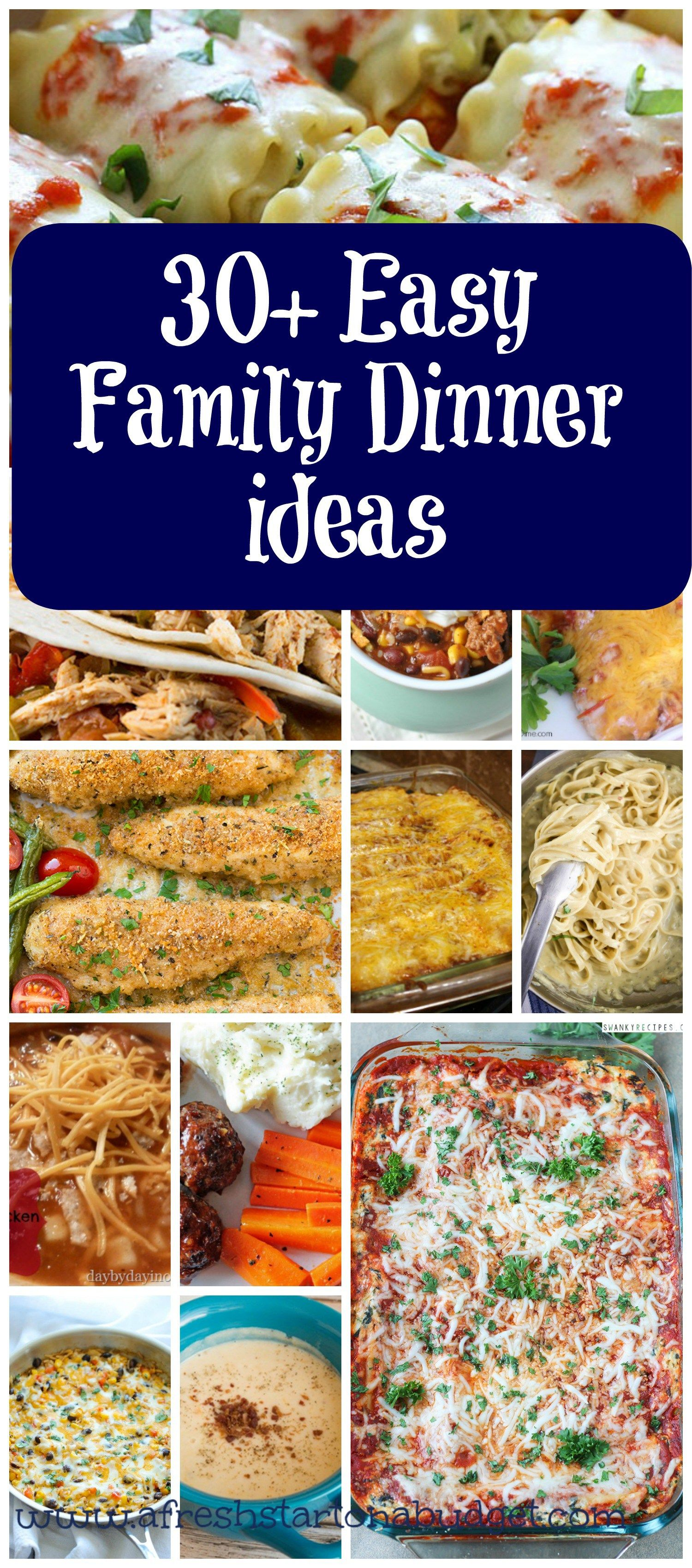 30 Quick And Easy Dinner Ideas A Fresh Start Blog Posts