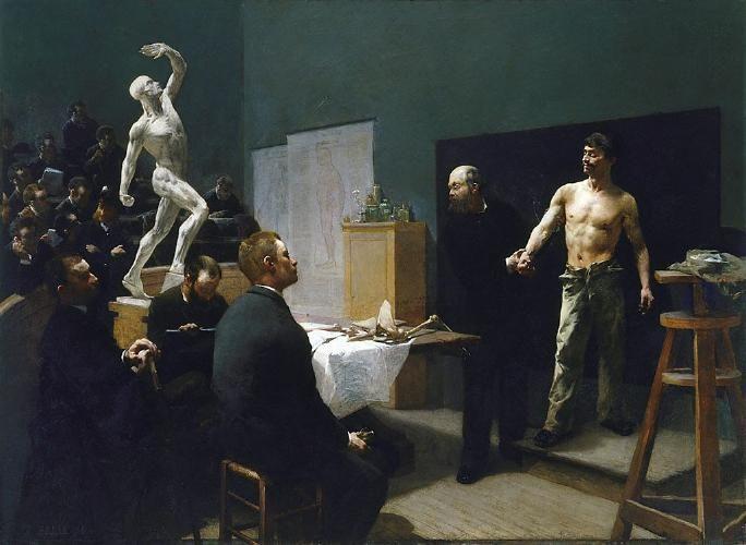 Francois Illas New Tradition: François Sallé (France, 1839-1899) The Anatomy Class At
