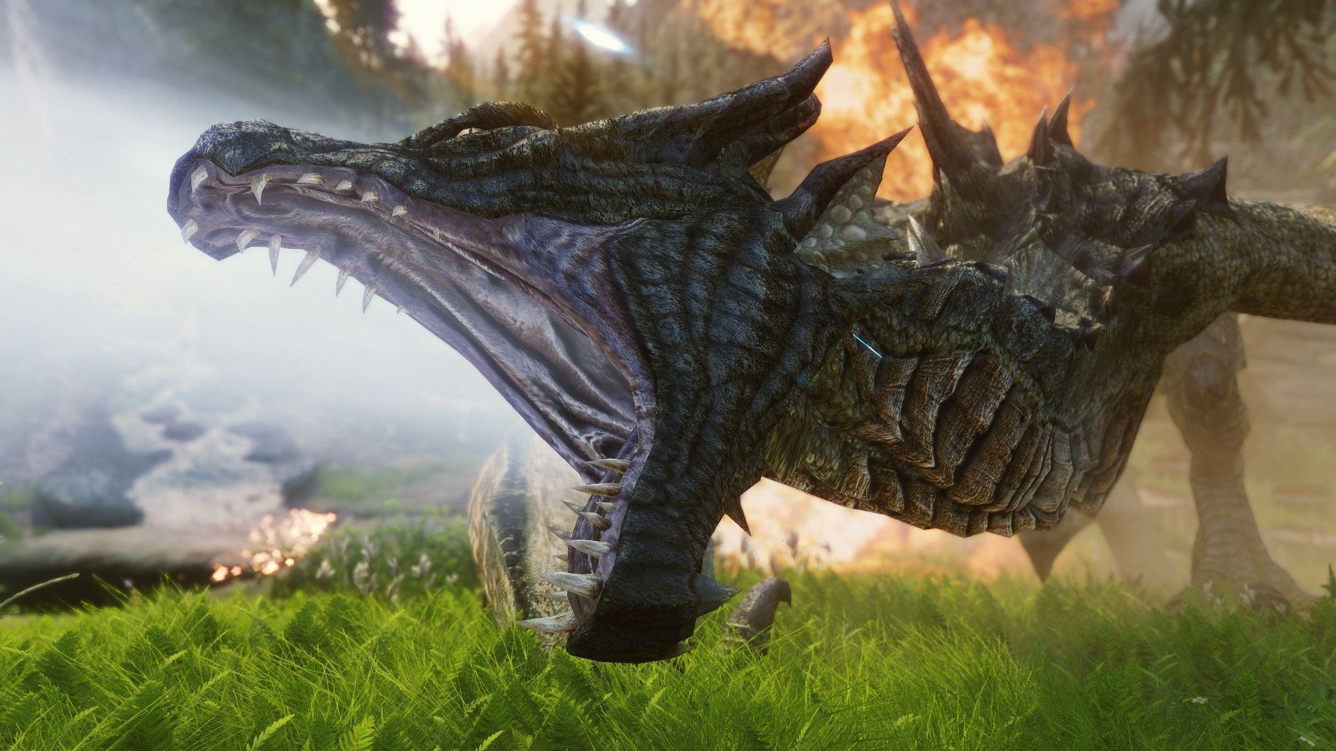 skyrim] Skyrim Realistic Texture Overhaul Dragons (by     | Mythical