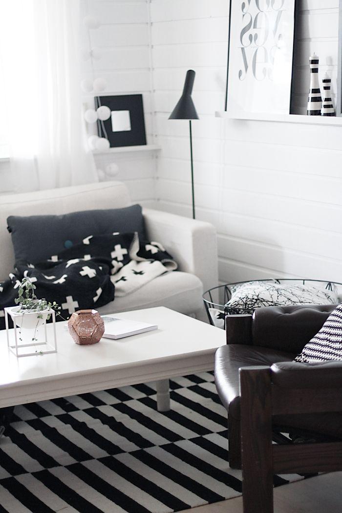 Rayas blancas y negras   Design, Wohnzimmer, Architektur