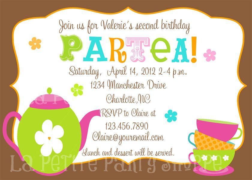 Partea Invitations-Tea Party Birthday-Mod-Retro Mad Hatter Birthday ...