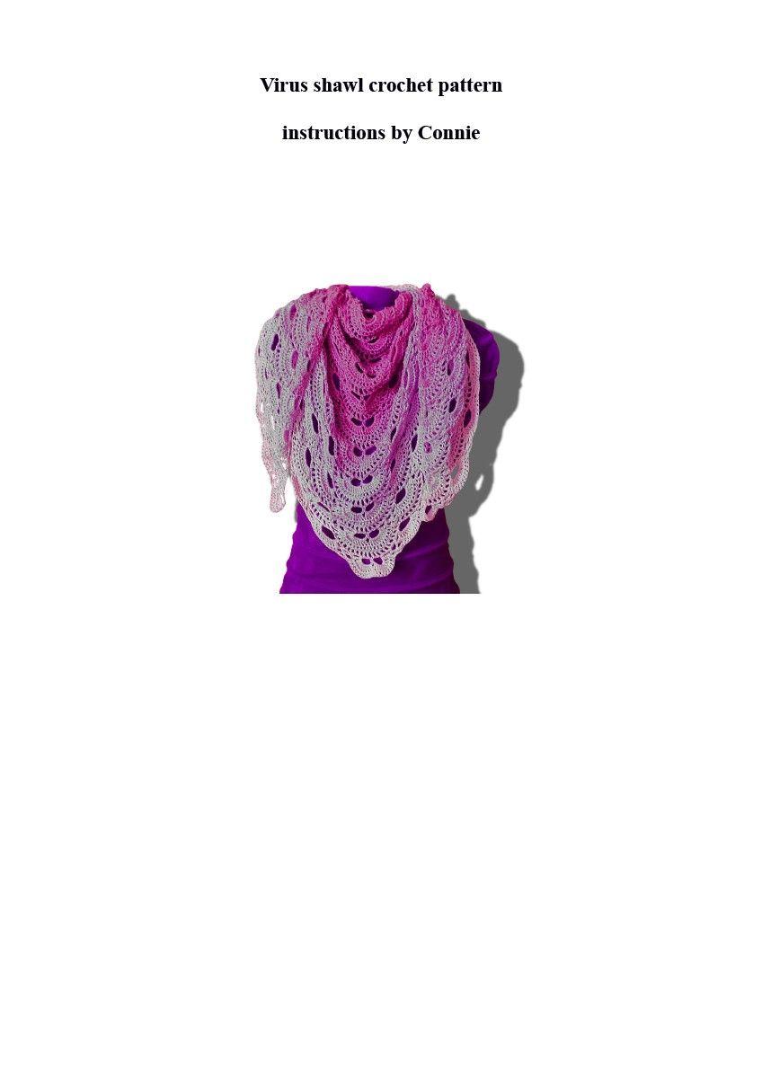 Virus shawl written crochet pattern.pdf - Shared Files - Acrobat.com ...