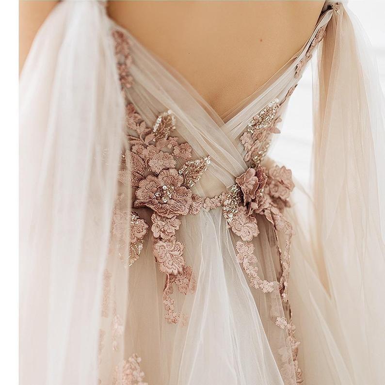 Wedding Dress PETUNIA With Long Train By Ange Etoiles