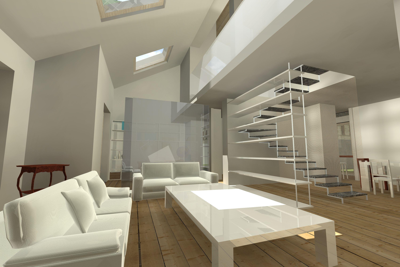 #Interiordesign #Rendering soggiorno doppia altezza con ...