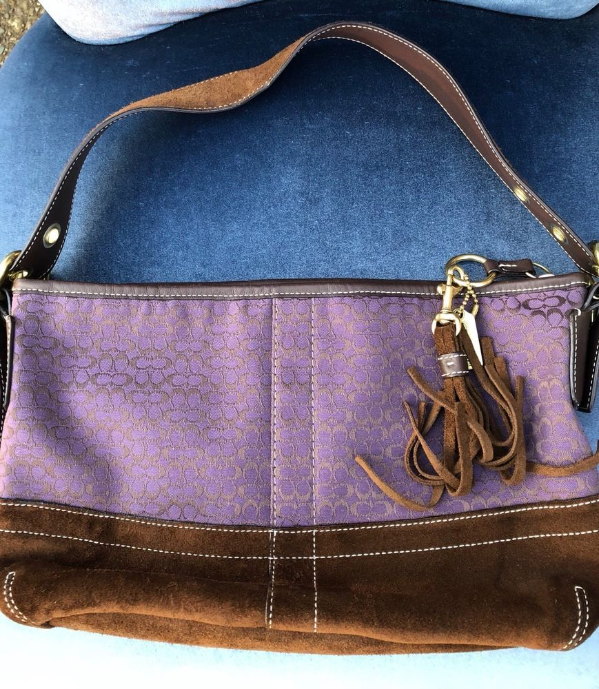 9e1aa8ee5025 Coach suede handbag Bag Purse EUC  fashion  clothing  shoes  accessories   womensbagshandbags