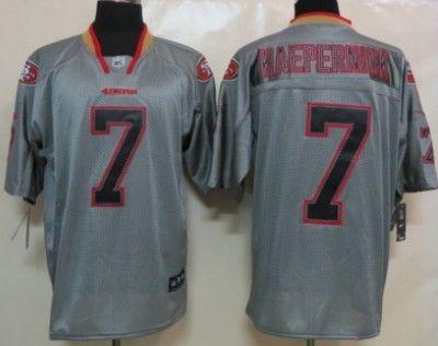 Nike San Francisco 49ers  7 Colin Kaepernick Lights Out Gray Elite Jersey c834c6967