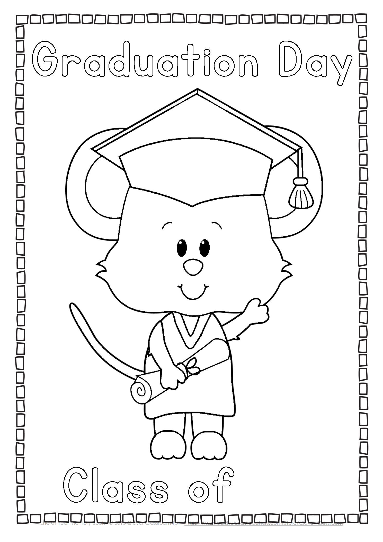 Kindergarten And First Grade End Of Year Printables And