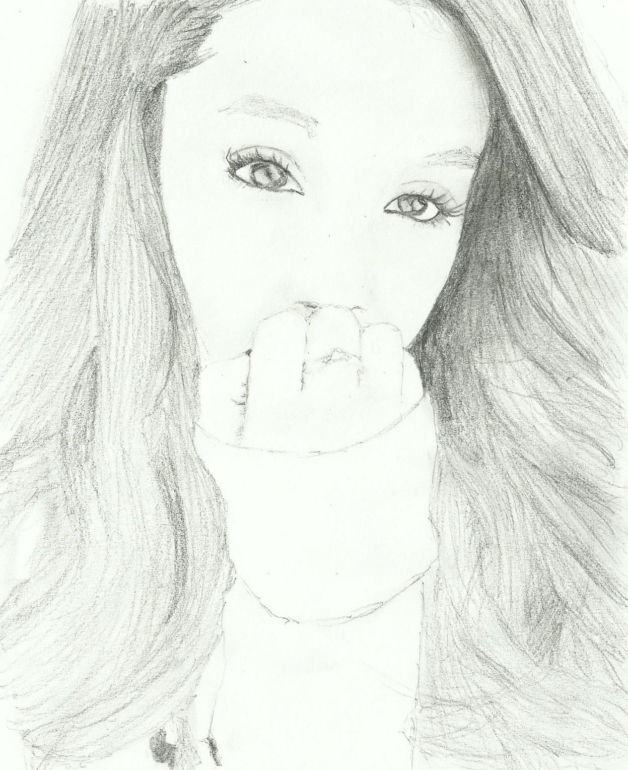 My drawing of ariana grande requested by graceanne12345