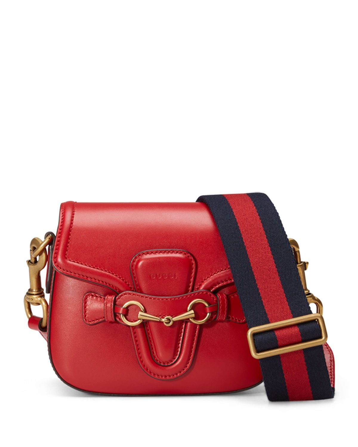 3490f2651be7 Lady Web Medium Leather Shoulder Bag Red | *Neiman Marcus* | Bags ...