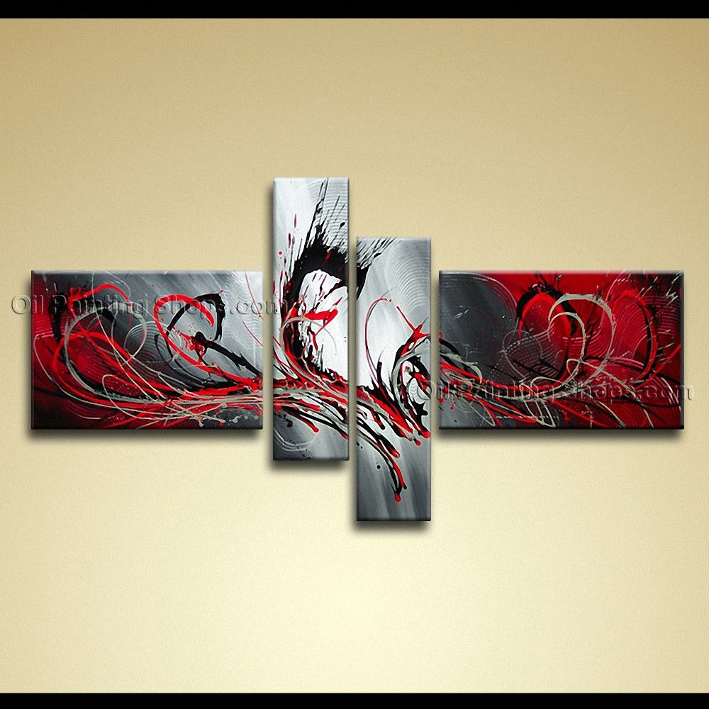 Hand Painted Large Modern Abstract Painting Wall Art Contemporary ...