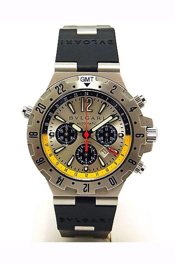166fdae6b19 Bulgari Diagono Professional Aria GMT Flyback Chrono Watch - GMT40SFB.  CLOSEOUT SALE 35% OFF