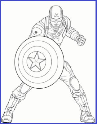 Dibujos Para Colorear De Capitan America Capitan America Dibujo