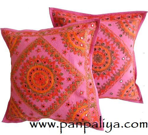 Indian Cushion Cover India Cushion Covers Hand Embroidery