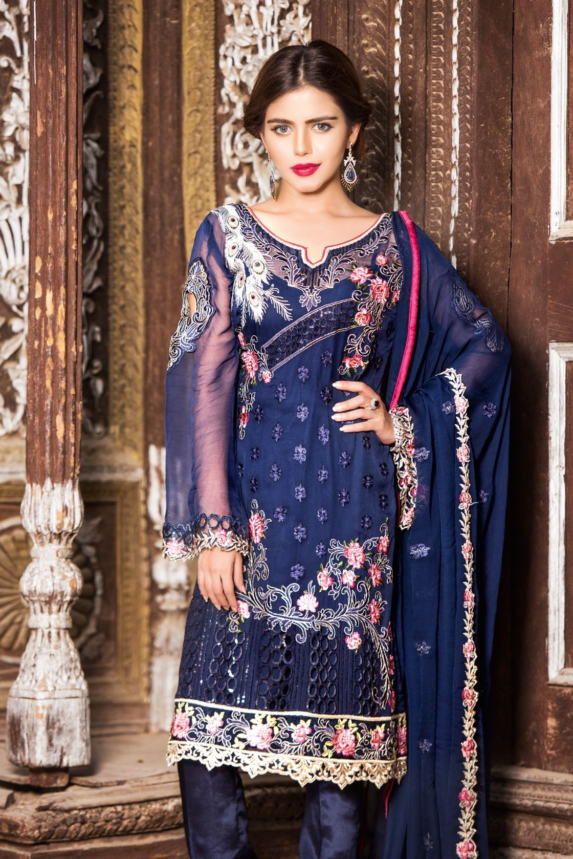 Buy Online Maryam\'s Chiffon Collection Vol-3 | AN Fabrics | Modesty ...