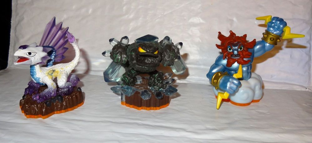 Skylanders Prism Break, Lightning Rod, & Flashwing Action Figures Lot 3 Ps NT #Activision