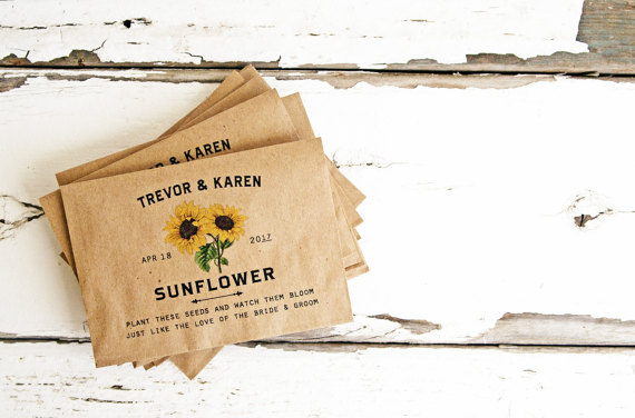 Sunflowers and Favors