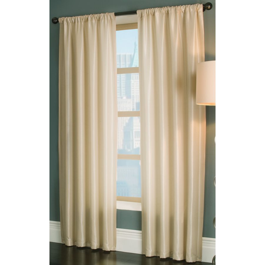 Shop Allen + Roth 95 In L Cream Florence Curtain Panel At Lowes.com