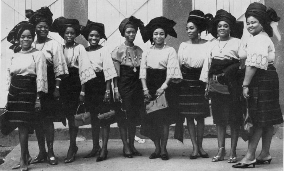 Nigerianostalgia: Yoruba Women Dressed In...