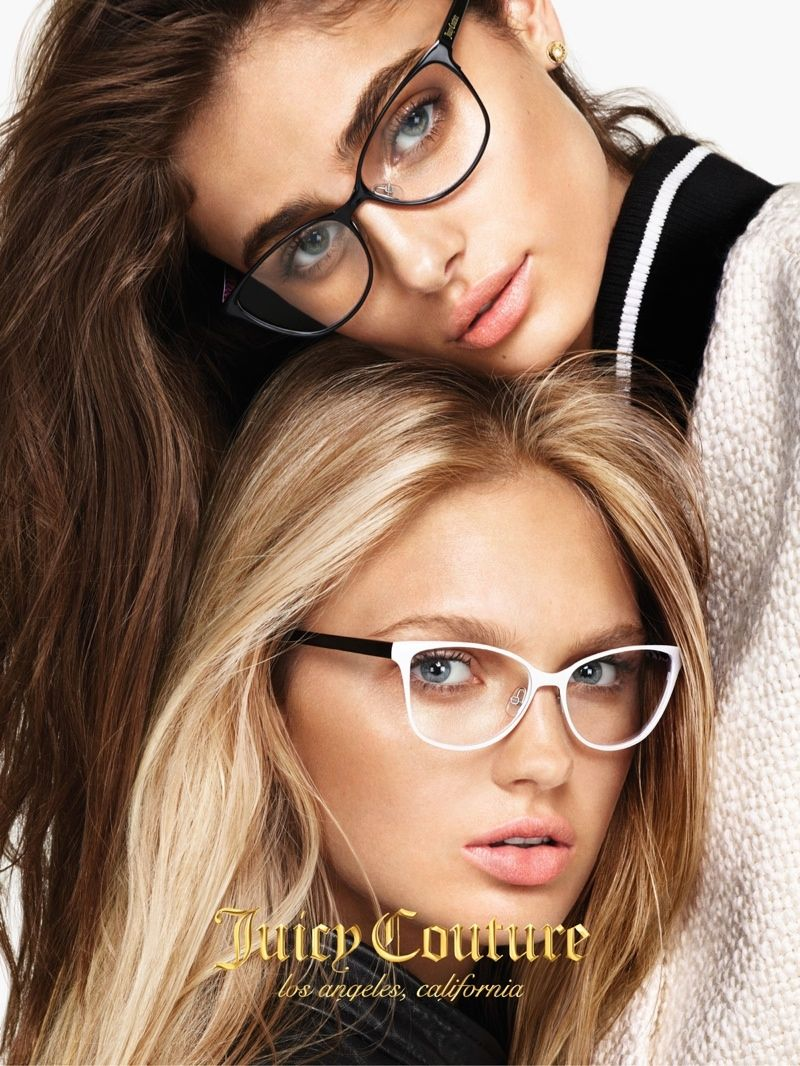 Romee Strijd + Taylor Hill Front Juicy Couture Fall 2015 Ads - Fashion Gone Rogue