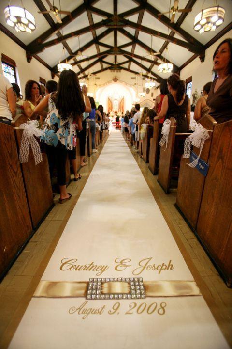 wedding aisle runner monogram