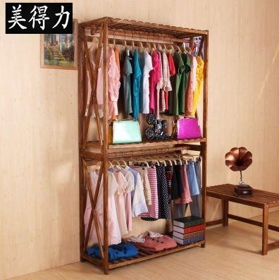 Women S Clothing Store Racks Shelf Double Hanger Wooden Hanger
