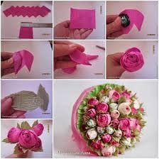 Znalezione Obrazy Dla Zapytania Kwiatki Z Materialu Diy Tissue Paper Flowers Flower Crafts Paper Flowers