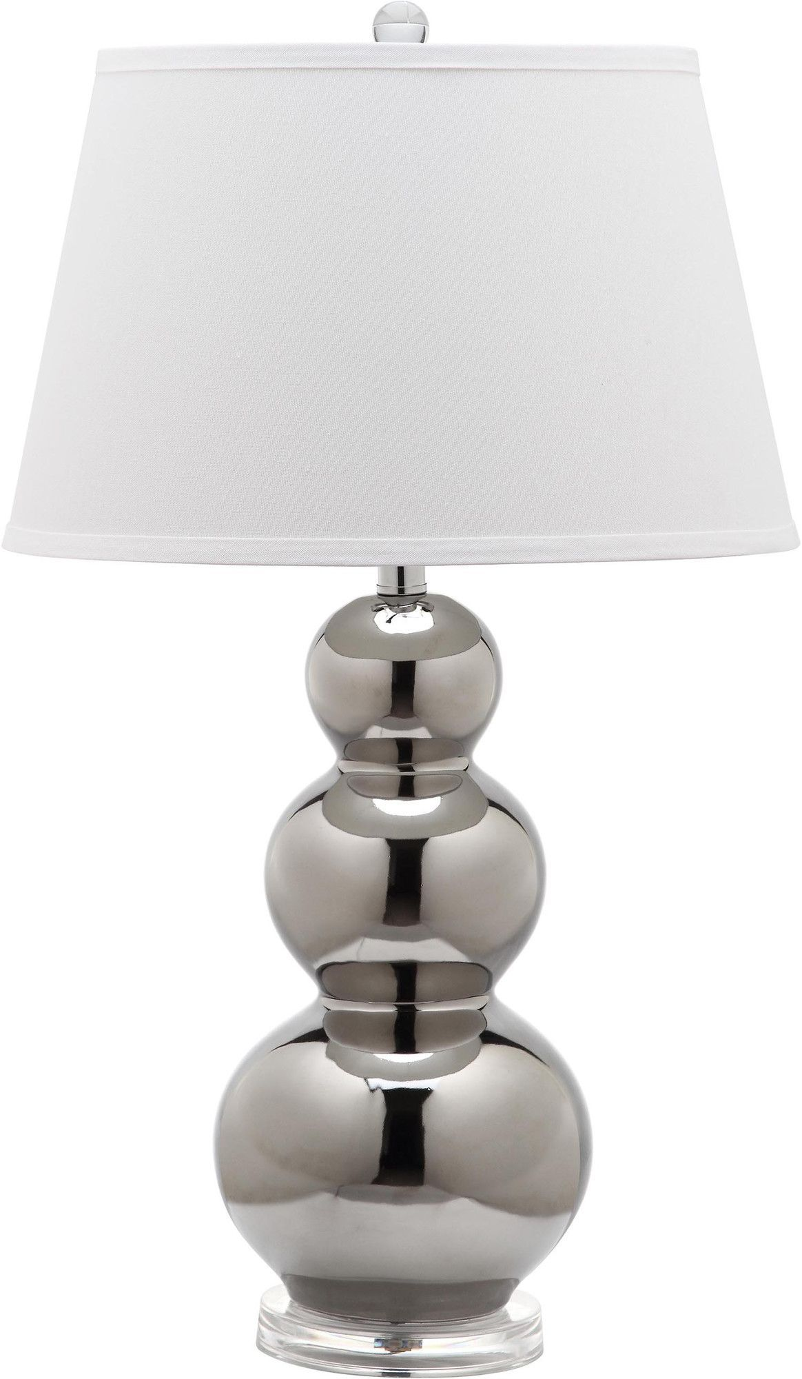 """Pamela Triple Gourd 22.5"""" H Table Lamp with Empire Shade"""