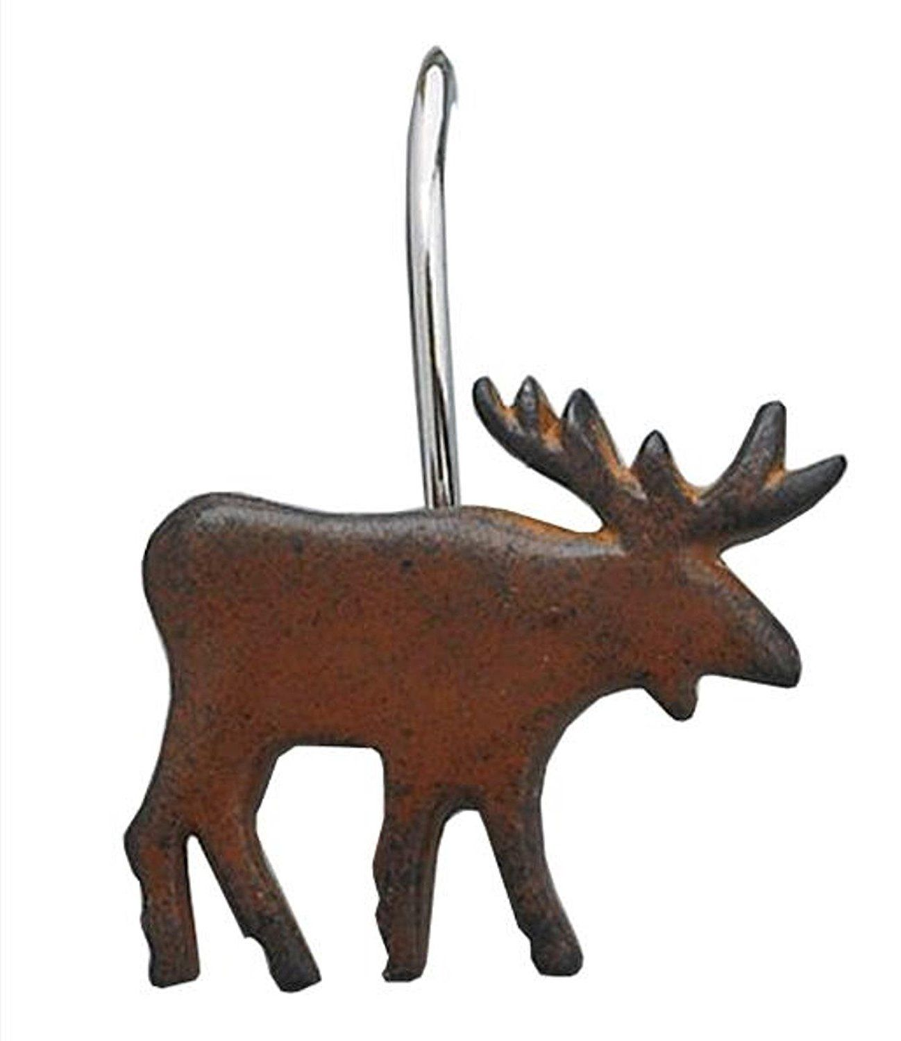 Amazon Park Designs Moose Shower Curtain Hooks Set Of 12