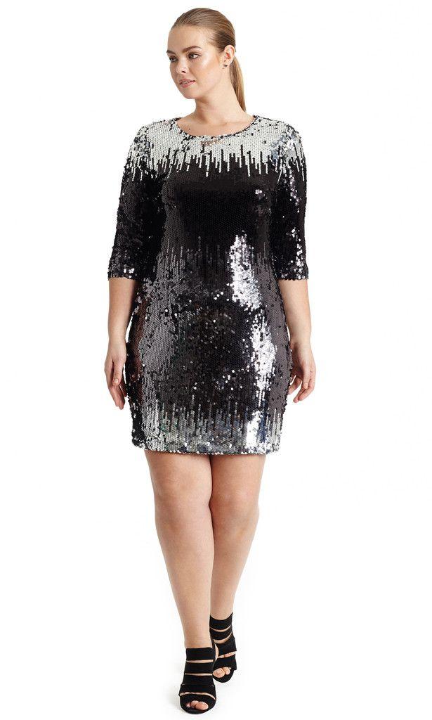 Gigi Ombre Sequin Dress Hey Gorgeous Plus Size Must Have