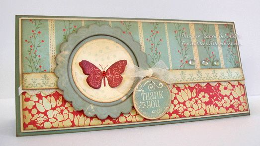 I love these #10 cards! A Vintage Thank You by Lauraly - Cards and Paper Crafts at Splitcoaststampers