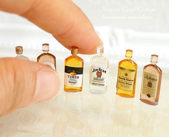 1:12 Dollhouse Mini Wine Bottles Kawaii Miniature Drinking Doll House/_Decor@@