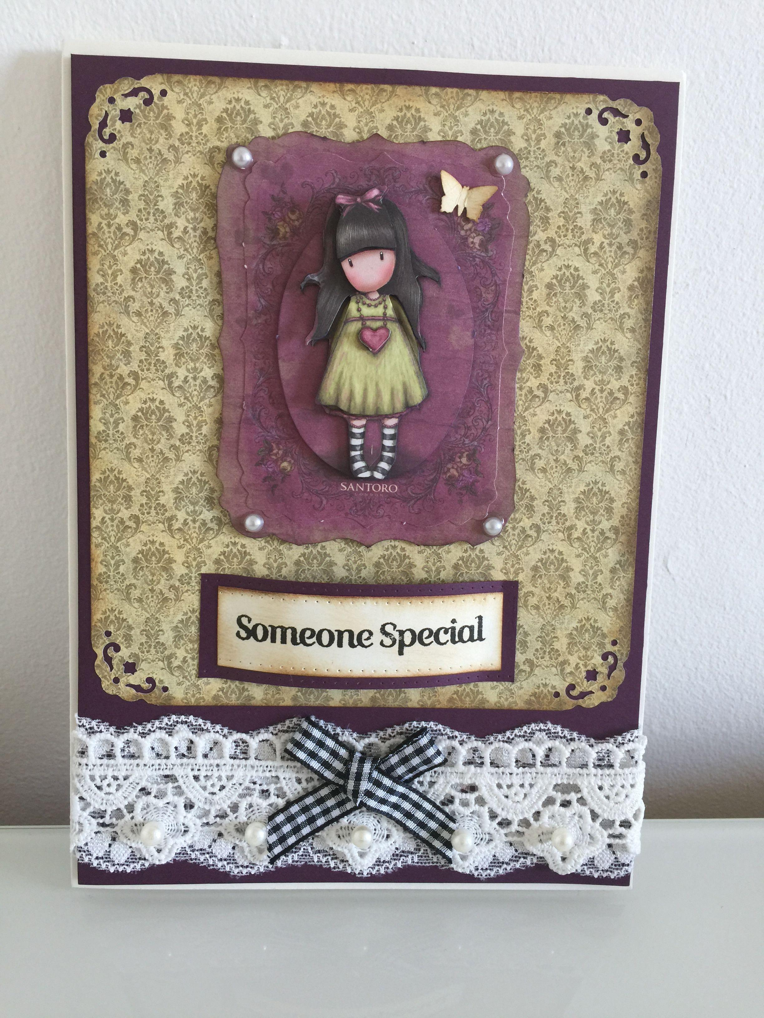 Gorjuss Girls A5 Handmade Card Cards Handmade Paper Crafts Cards
